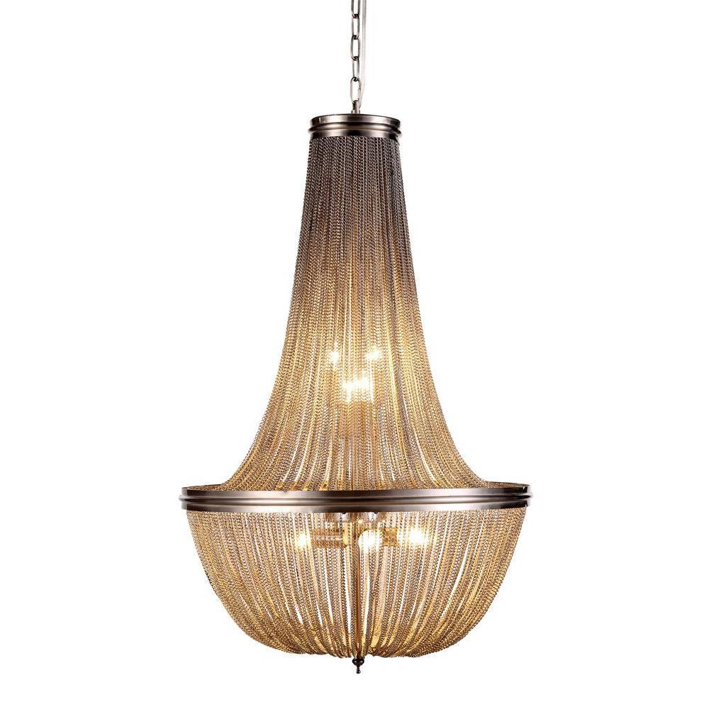 Elegant Lighting Paloma 6-Light Pewter Pendant-1210D21PW