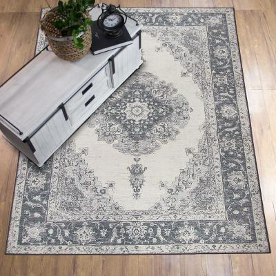 Washable Parisa Grey 5 ft. x 7 ft. Stain Resistant Area Rug