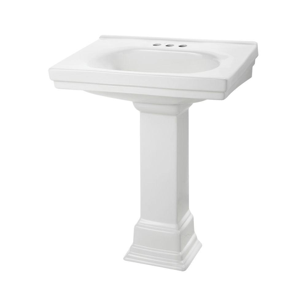 Foremost Structure Suite 20 5/80 In. Pedestal Sink Basin In White