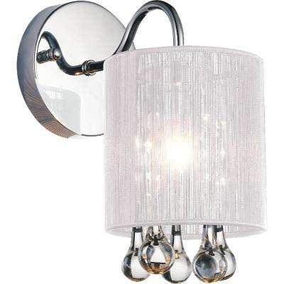 Water Drop 1-Light Chrome Sconce