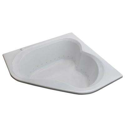 Beryl 5 ft. Acrylic Corner Drop-in Air Bathtub in White
