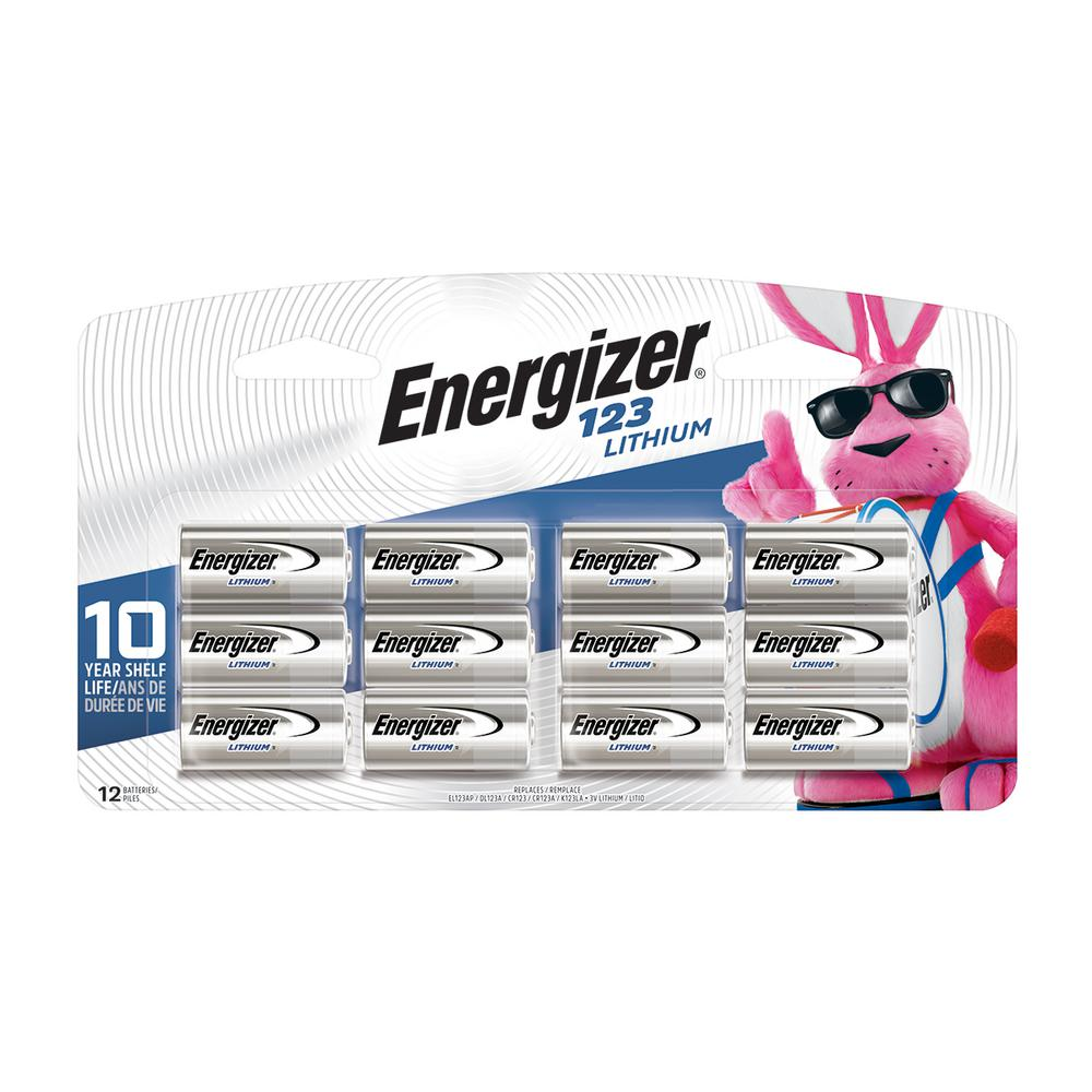 Energizer 123 Lithium Battery (12-Pack)