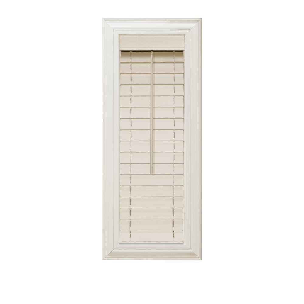 Home decorators collection beige 2 in faux wood blind 10 in w x 72 in l actual size 9 5 in - Home decorators faux wood blinds gallery ...