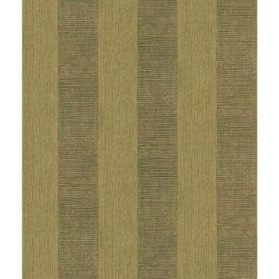 Nairobi Copper Block Stripe Wallpaper Sample