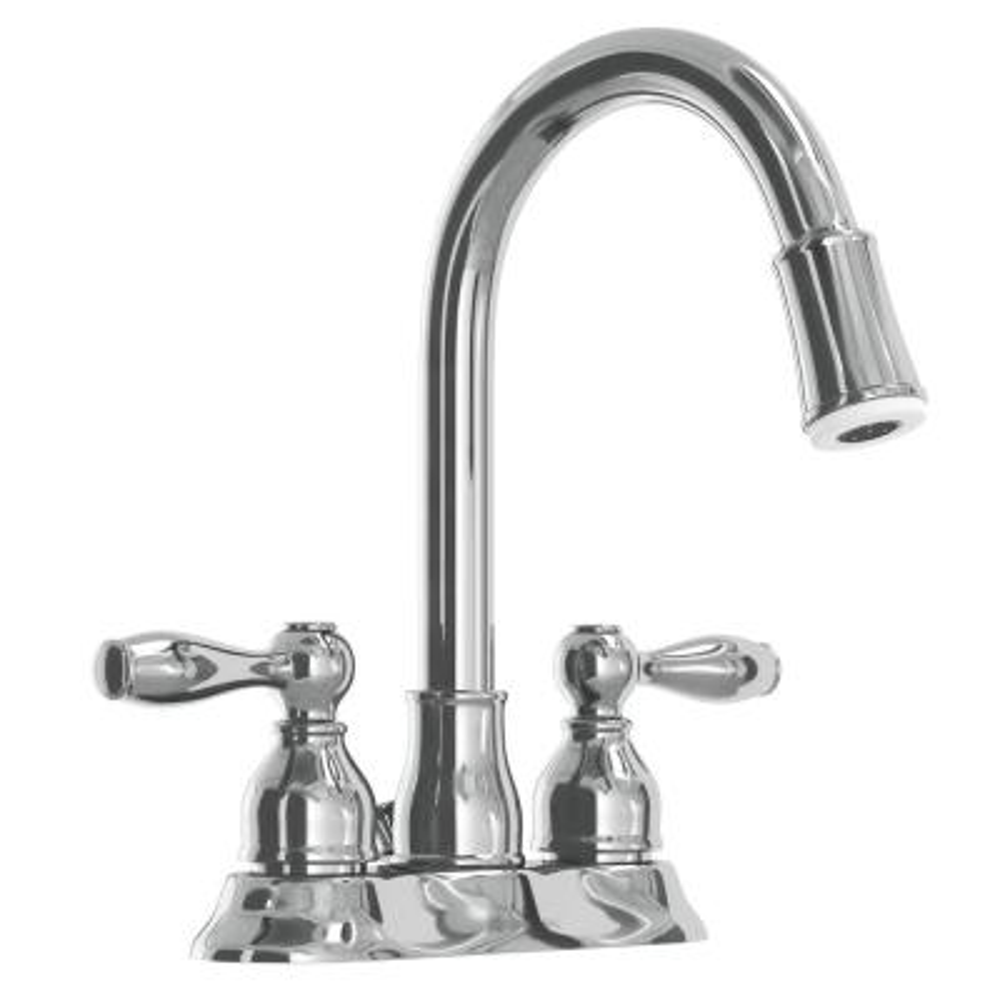 Mandouri 4 in. Centerset 2-Handle LED High-Arc Bathroom Faucet in Chrome