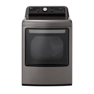 7.3 cu. ft. Ultra Large Smart Front Load Electric Dryer w/ EasyLoad Door, TurboSteam & Wi-Fi Enabled in Graphite Steel