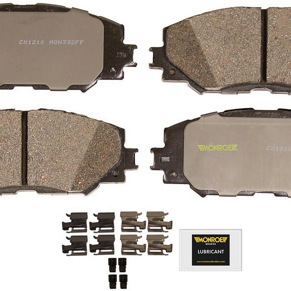 Front Monroe Total Solution Ceramic Brake Pads fits 2006-2016 Toyota Corolla RAV4 Matrix