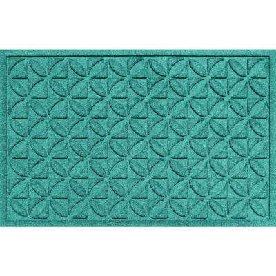 Heritage Aquamarine 24 in. x 36 in. Polypropylene Door Mat