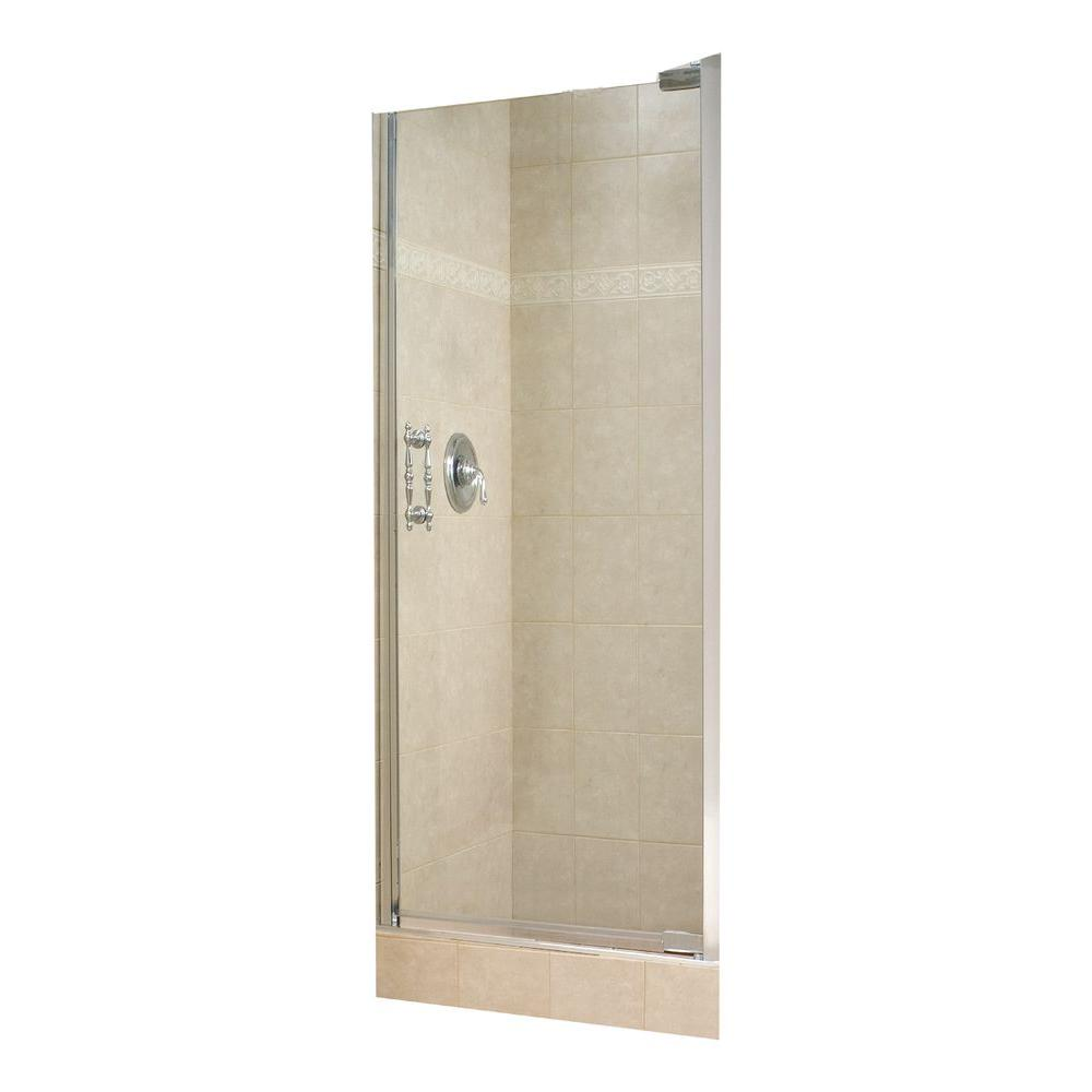 MAAX Alexa 28-1/2 in. to 30-1/2 in. W Swing-Open Shower Door in Chrome with 10MM Clear Glass-DISCONTINUED