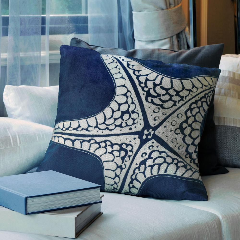 Starfish Indigo Decorative Pillow (Set of 2)