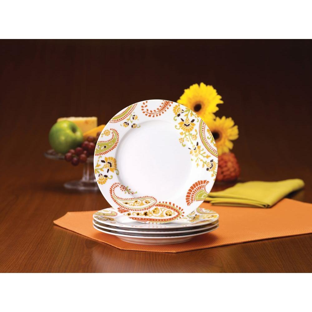 Rachael Ray Paisley 4-Piece Salad Plate Set