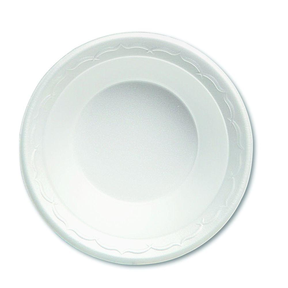 Genpak Celebrity 12 oz. Foam Bowls, White, 1000 Per Case