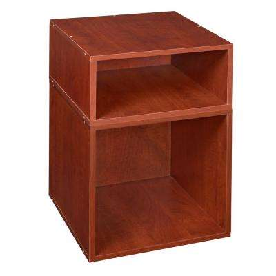 Cubo 13 in. x 19.5 in. Cherry 1 Half-Cube and 1 Full Cube Organizer