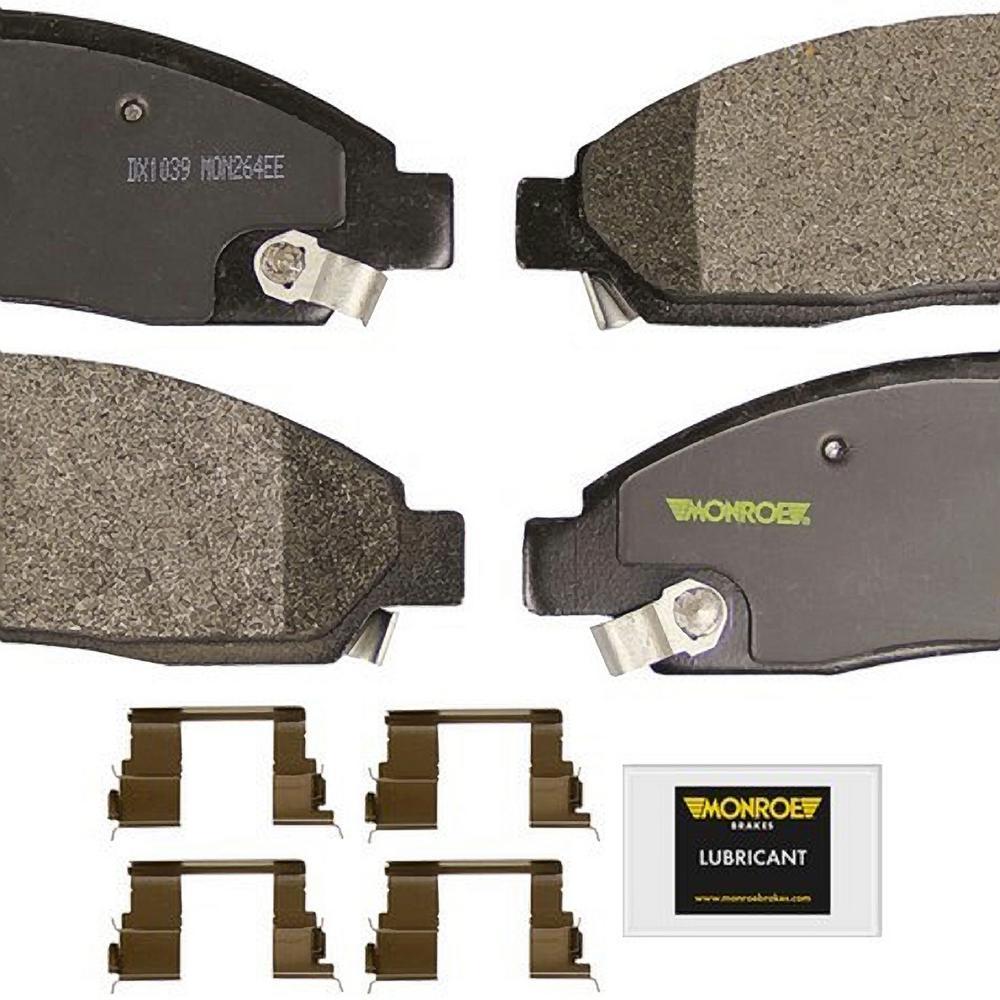 Front Monroe Total Solution Semi-Metallic Brake Pads fits 2005 Pontiac G6