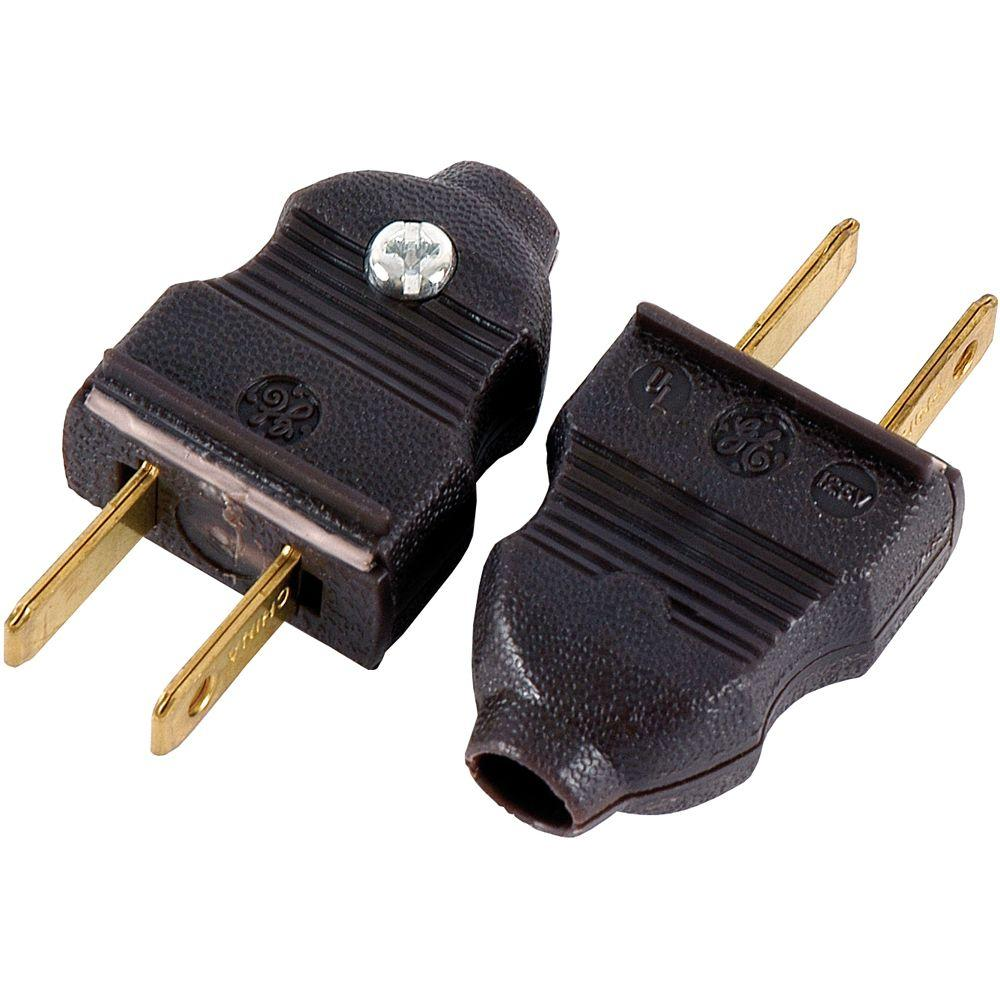 GE 15 Amp 125-Volt Quick Wire Plug, Brown (2-Pack)-54266 - The Home ...