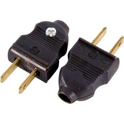 15 Amp 125-Volt Quick Wire Plug, Brown (2-Pack)