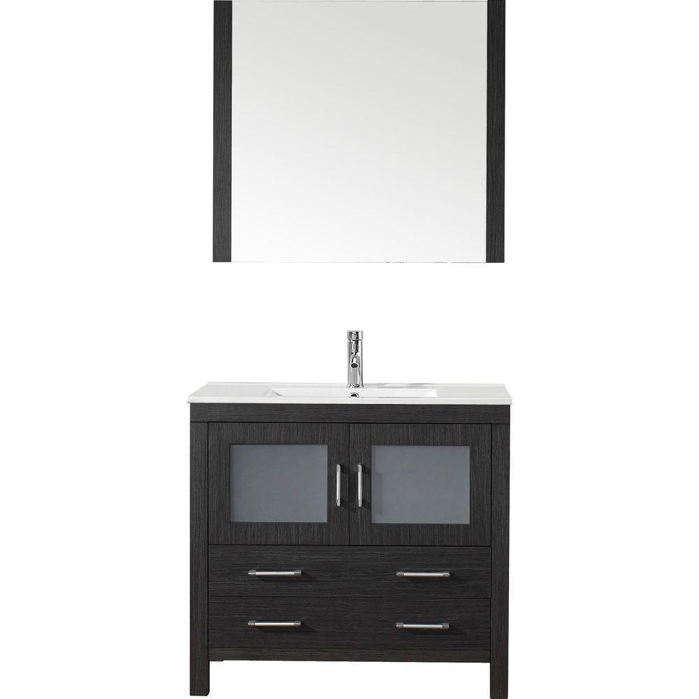 Virtu Usa Dior 36 In W X 18 3 D Vanity Zebra Grey