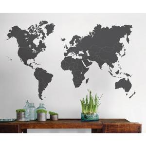 Deals on Wall Pops 48 in. x 36 in. The World Is Yours Giant Wall Decal
