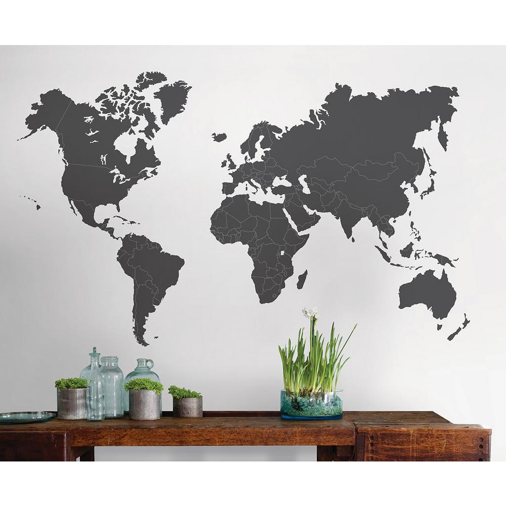 Giant world map wall decal decor compare prices at nextag the world is yours giant wall de gumiabroncs Gallery