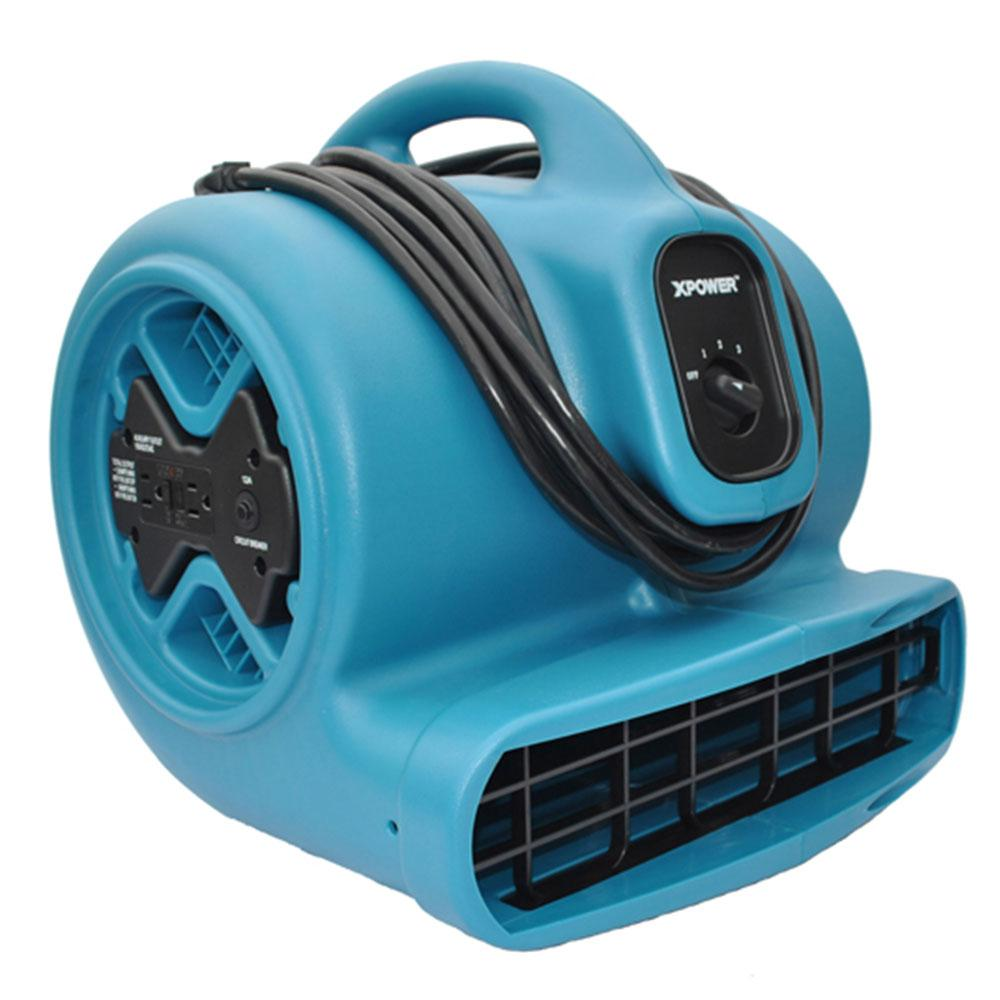 XPOWER X-600A 1/3 HP High Velocity Air Mover with Daisy Chain