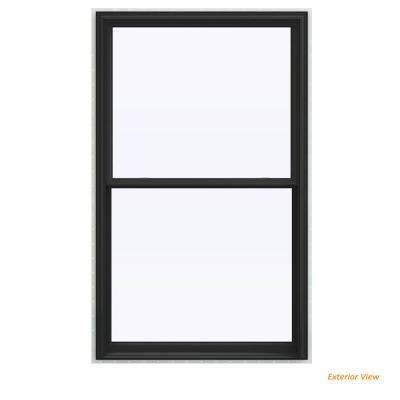 43.5 in. x 71.5 in. V-2500 Series Bronze Painted Vinyl Double Hung Window with BetterVue Mesh Screen