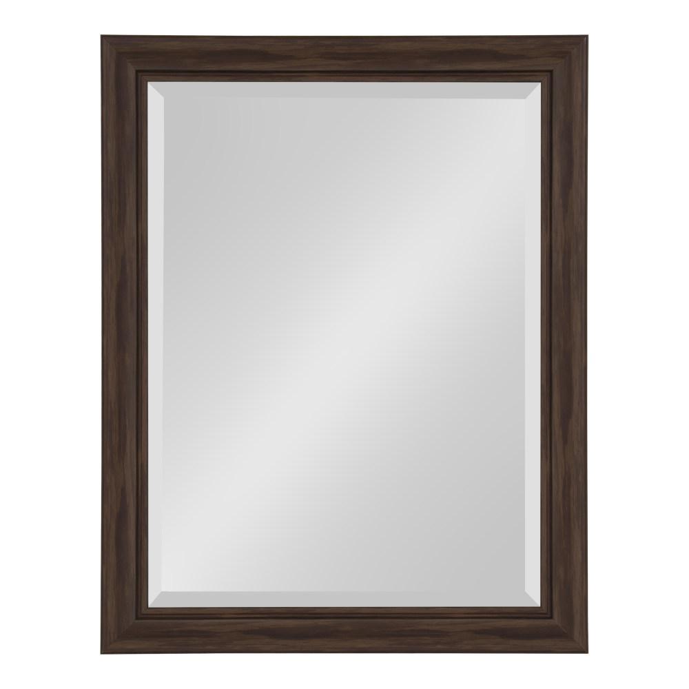 Dalat Rectangle 22 in. x 28 in. Walnut Brown Framed Wall Mirror