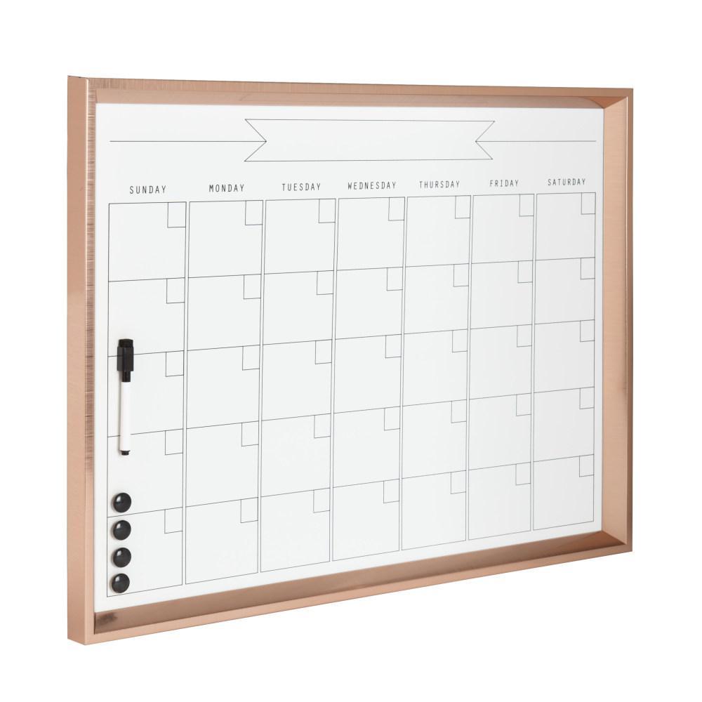 Calder Monthly Dry Erase Calendar Memo Board