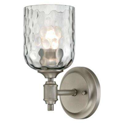 Basset 1-Light Dark Pewter Wall Mount Sconce