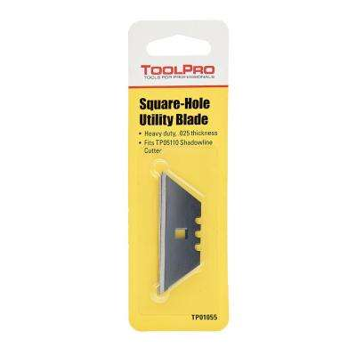 Square Hole Utility Knife Blades (5-Pack)