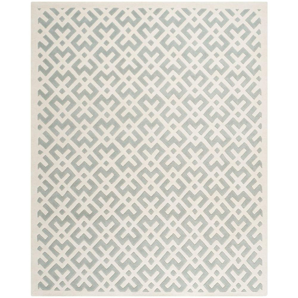 Chatham Grey/Ivory 9 ft. x 12 ft. Area Rug