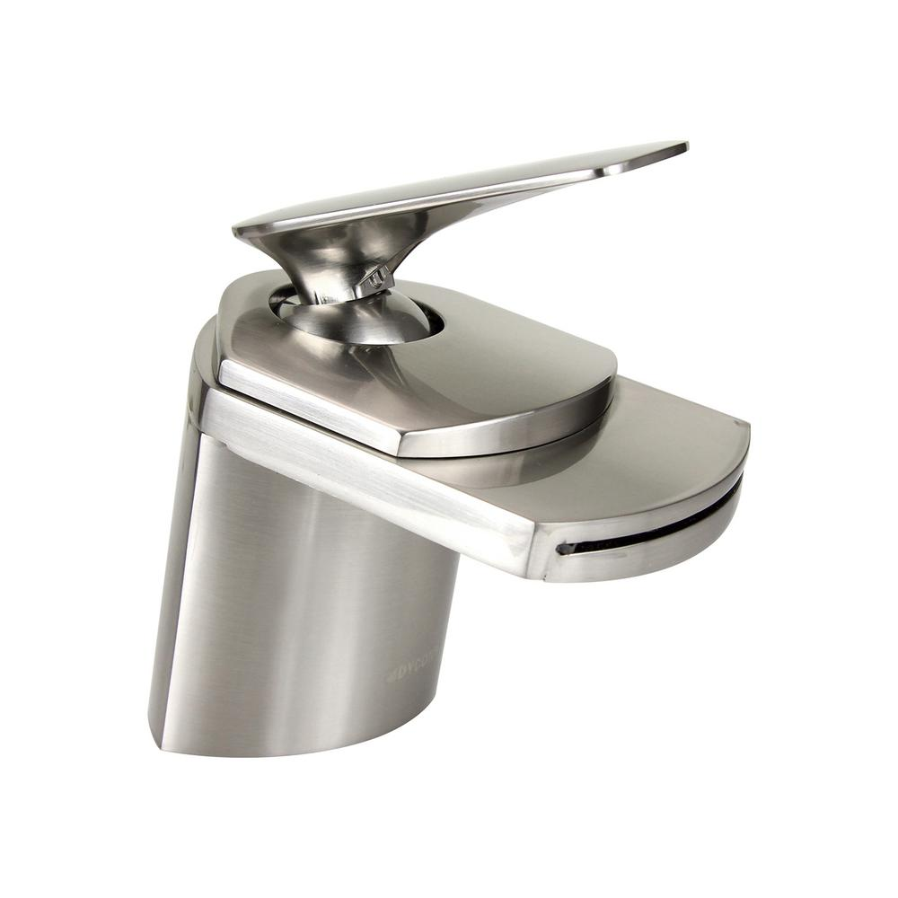 Dyconn marble 4 5 in single hole single handle vessel - Single hole bathroom faucets brushed nickel ...
