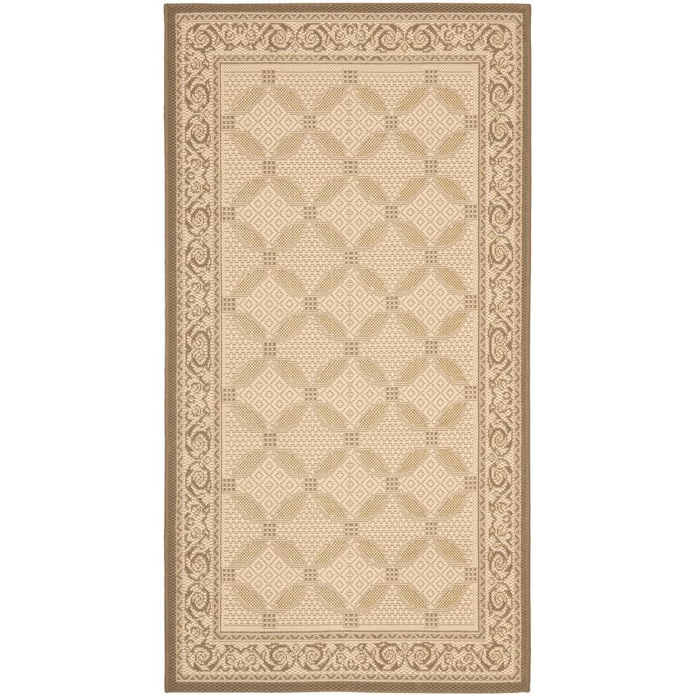 Safavieh Courtyard Beige/Dark Beige 2 ft. 7 in. x 5 ft. Indoor/Outdoor Area Rug