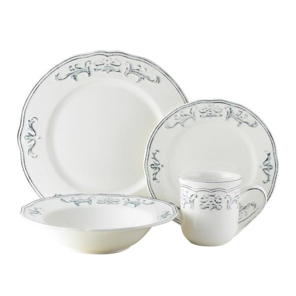 16-Piece Athens Dove Stoneware Dinnerware Set (Service for 4)
