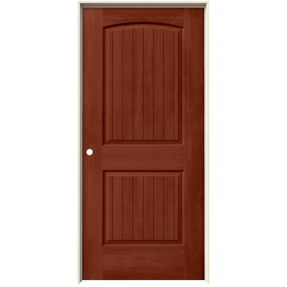 home depot jeld wen interior doors jeld wen 36 in x 80 in santa fe amaretto stain right 26758