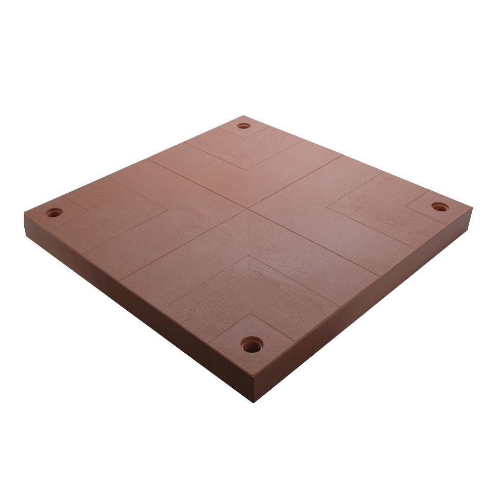 UDECX 40 in. x 40 in. Red Cedar Patio Deck Surface Pad