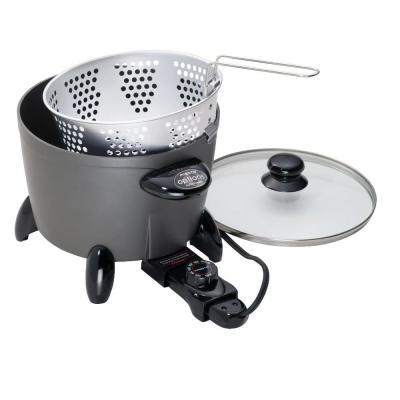 Options 6 Qt. Dark Gray Electric Multi-Cooker