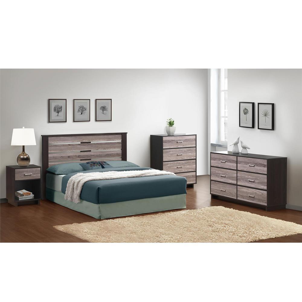 bedroom nightstands. Colebrook Espresso Rustic Medium Oak Nightstand Nightstands  Bedroom Furniture The Home Depot