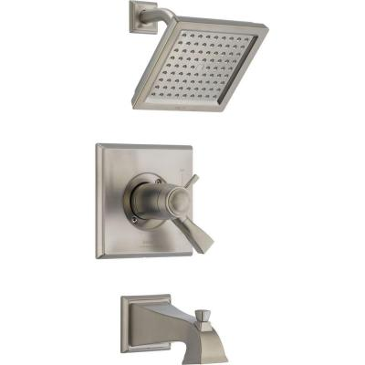 Dryden TempAssure 17T Series 1-Handle Tub and Shower Faucet Trim Kit Only in Stainless (Valve Not Included)