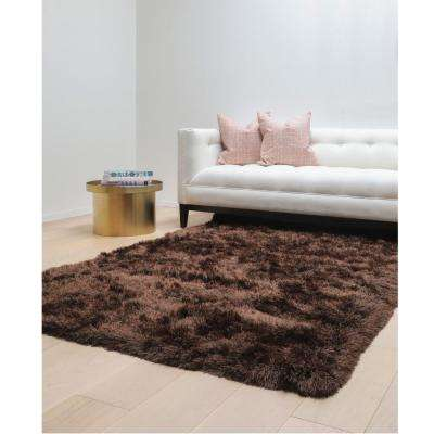 Luxe Shag Chocolate 5 ft. x 8 ft. Area Rug