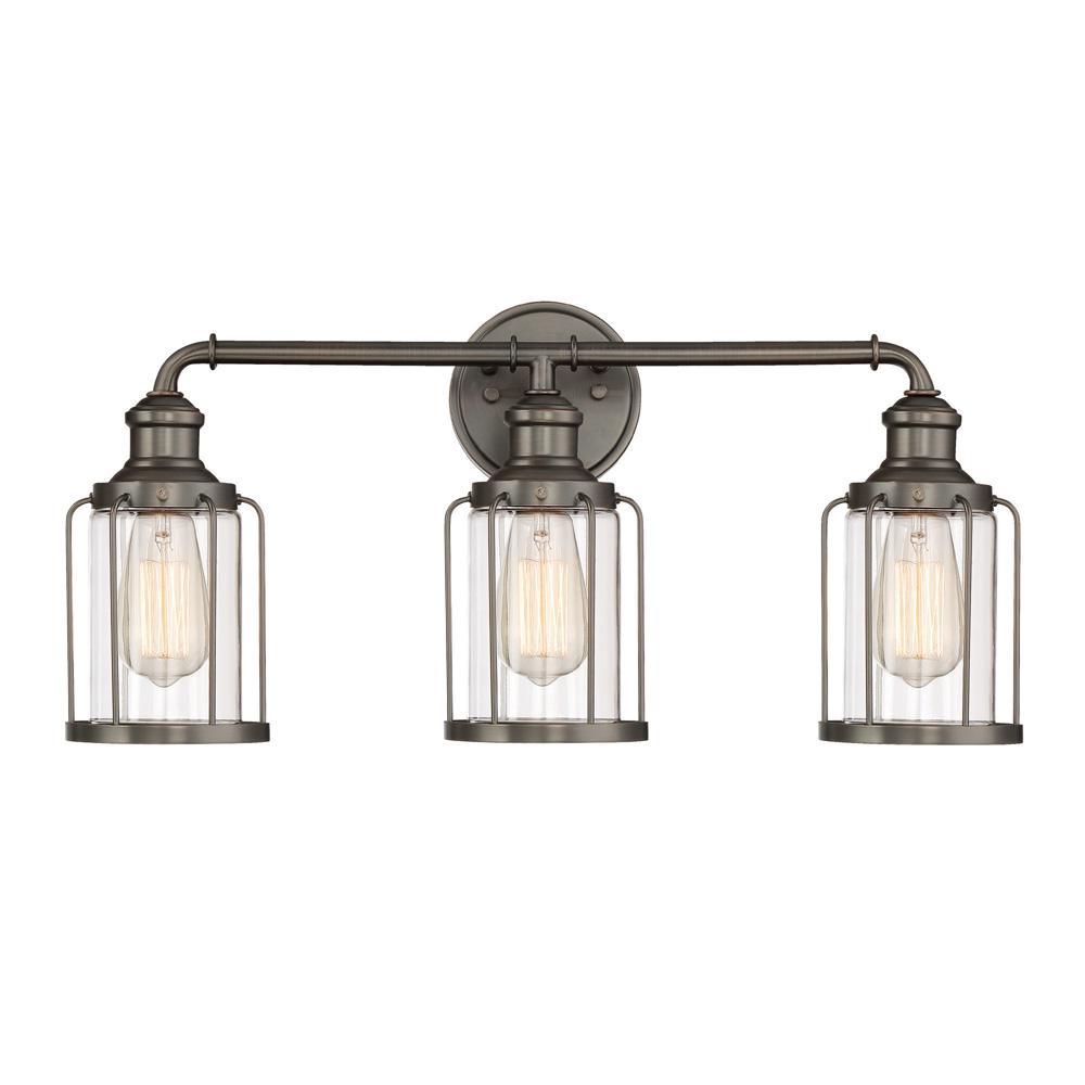 Anson 3-Light Satin Copper Bronze Interior Bath Bar Light