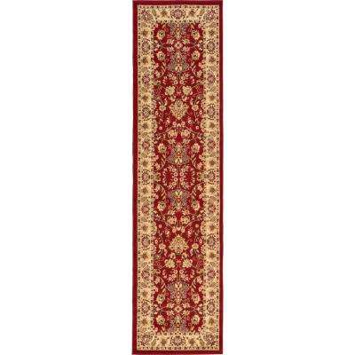 Sialk Hill Washington Burgundy 2' 7 x 10' 0 Runner Rug