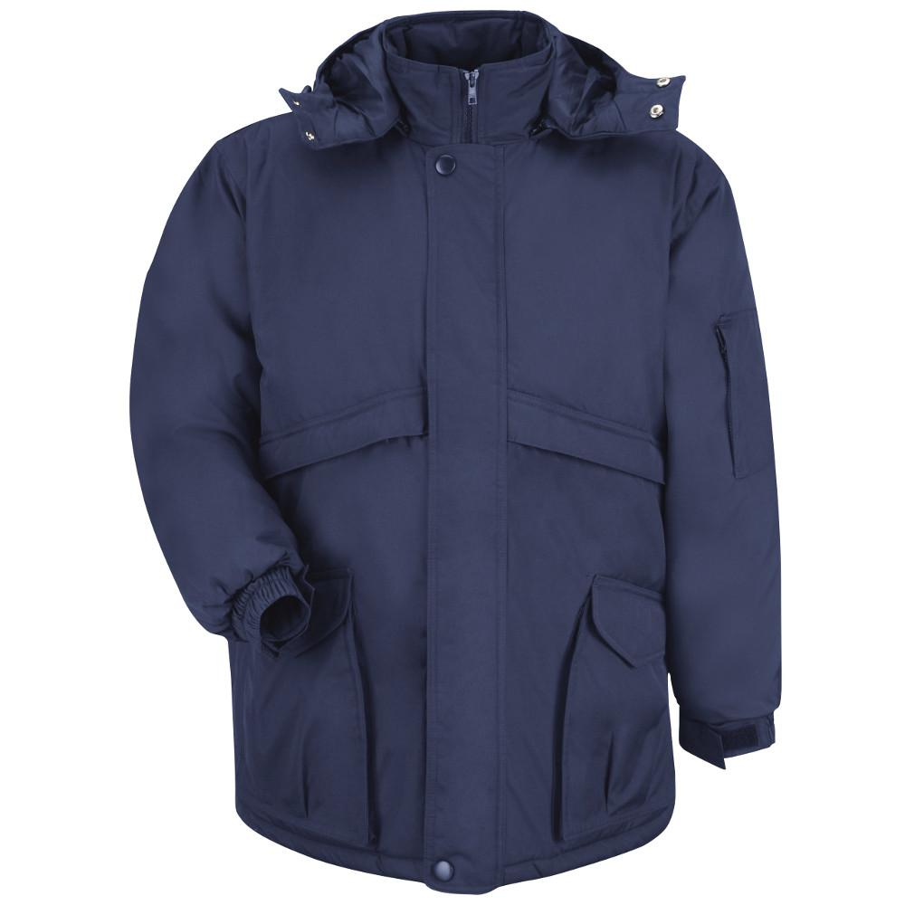 Red Kap Men S Small Navy Heavyweight Parka Jp70nv Rg S The Home Depot