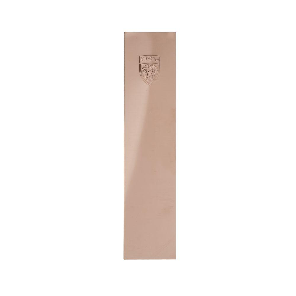 MD-Cu29 3.5 in. x 15 in. Polished Copper Nickel Self-Adhesive Antimicrobial Push Plate