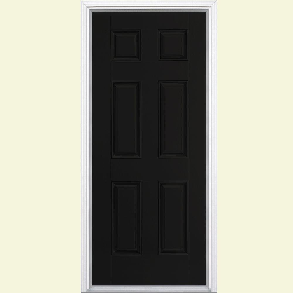 black front doorBlack  Fiberglass Doors  Front Doors  The Home Depot