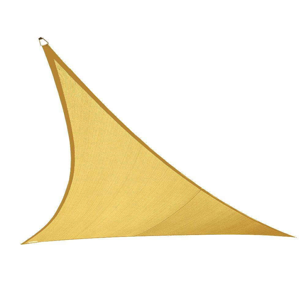 Coolaroo Coolhaven 18 Ft X 18 Ft Sahara Triangle Shade Sail 473884 The Home Depot