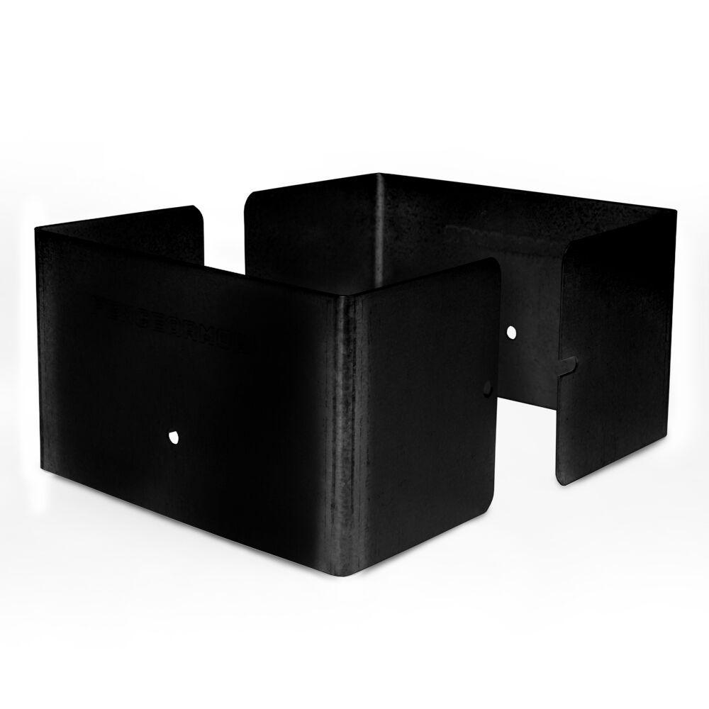 5 in. L x 5 in. W x 1/4 ft. H Black Fence Post Guard for Wood or Vinyl