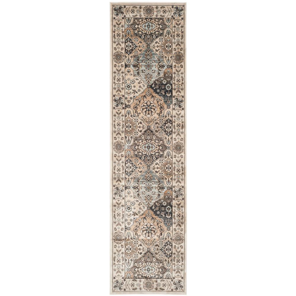 Persian Garden Multi/Ivory 2 ft. x 8 ft. Runner Rug