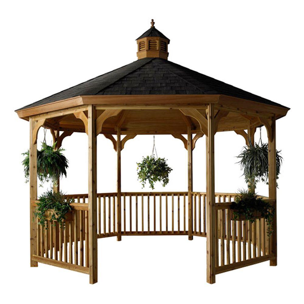 HomePlace Structures 12 ft. Cedar Octagon Gazebo without Floor