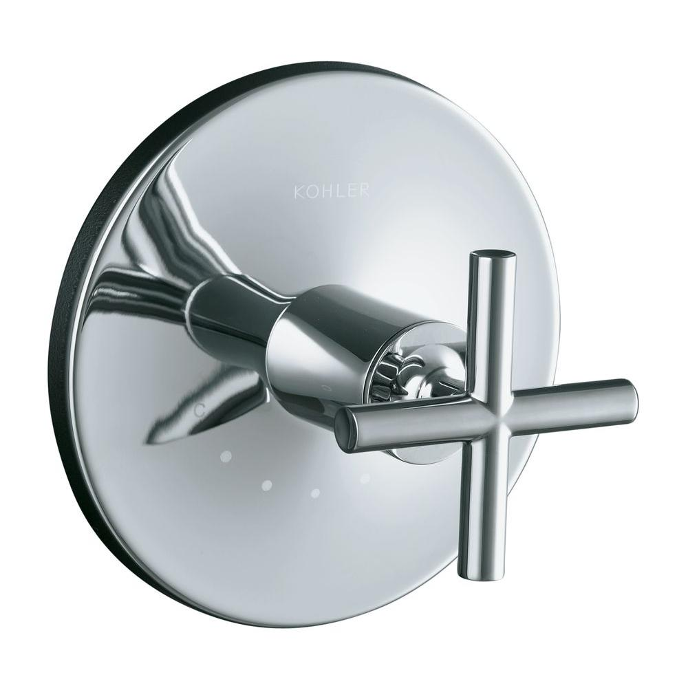 KOHLER Purist 1-Handle Thermostatic Valve Trim Kit with Cross Handle ...