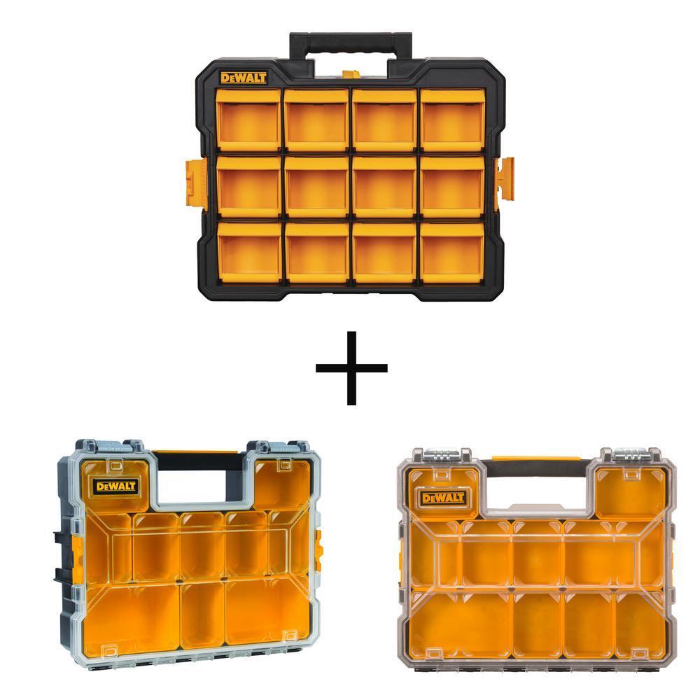 DEWALT 3-Piece Organizer Combo (12-Compartment Flip Bin Small Parts Organizer, 10-Compartment Deep Pro and Shallow Organizers), Black was $75.0 now $49.97 (33.0% off)